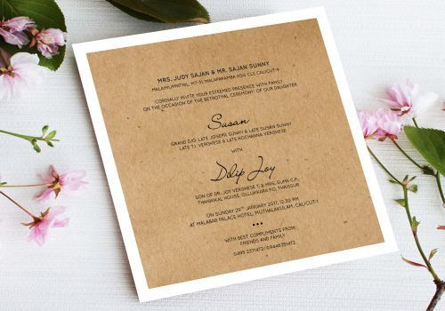 Invitations business cards single cards manufacturer from manjeri single cards reheart Choice Image