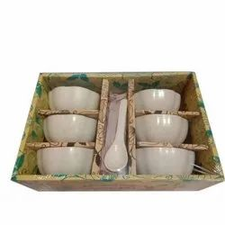 Ceramic Soup Bowl Set, Set Contains: 6 Piece, Packaging Type: Carton Box