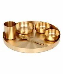 Gold Bronze Dinner Set, For Decoration, Dimension: 9 Inch
