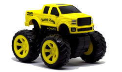 Yellow Monsto Truck (Toy Car Model) (Toys) (Toy Truck) (Toy Product) (Monster Truck) Car Scale Mode