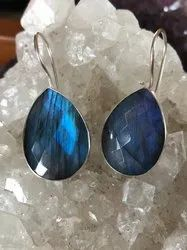Labradorite 925 Sterling Silver Earrings