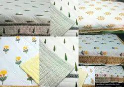 Block Printed Jaipuri Quilt
