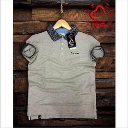 Plain Men Being Human Collar T Shirt
