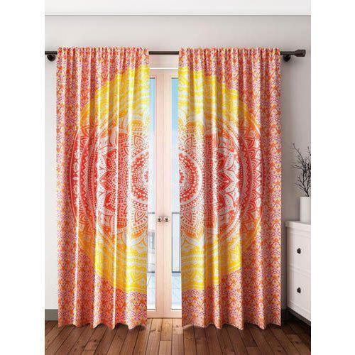 Colors Of India Printed Cotton Mandala Curtains