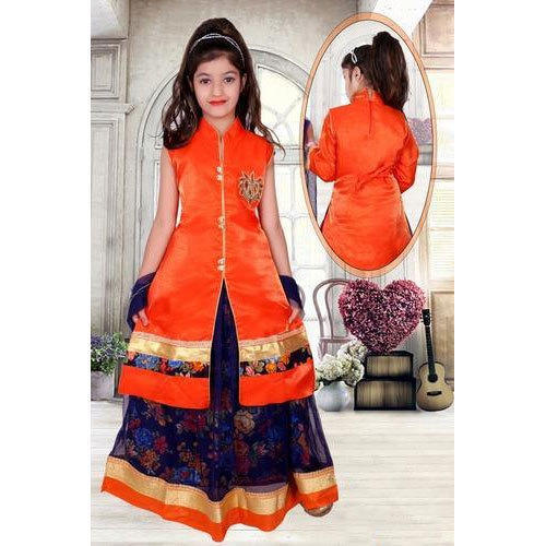 Kids Girls Designer Indo Western Dress
