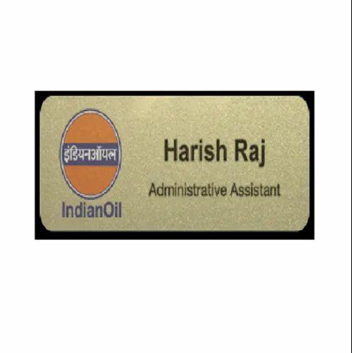 Rectangle Name Badge Gold | Teynampet, Chennai | Name Badges