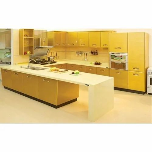 U Shape Kitchen With Breakfast Counter At Rs 350455 Piece U Shape Modular Kitchen Id 21689757412