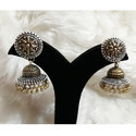 Oxdised German Silver Short Jhumka