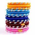 Multicolour Lahriya Silk Thread Bangle