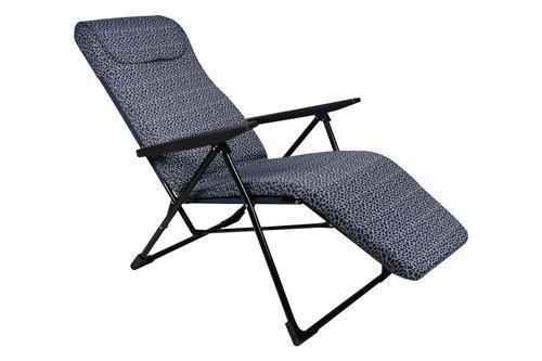 Superior Steel Blue Circle Folding Recliner Chair