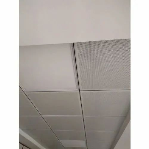 Square Aluminum Lay In Tiles T Grid Ceiling Panel
