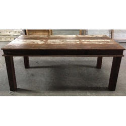 Wood Brown Reclaimed Dining Table, For And Restaurant