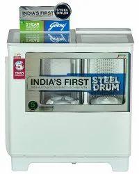 Godrej 8 kg Semi Automatic Top Load Washing Machine, WS 800 PDS, Lilac Sprinkle