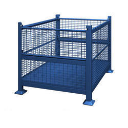 Blue Metal Mesh Storage Bins, For Outdoor
