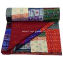 Patola Silk Patchwork Queen Quilted Bedding Quilts