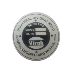 Aluminium Machine Round Name Plate