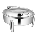 Round Glass LiD Chafer W Curved Legs 7LTRS