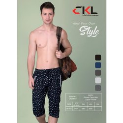 CKL Cotton Mens Casual Wear Fancy Capri, Handwash