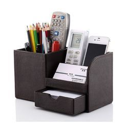 Leatherette Table Organizer