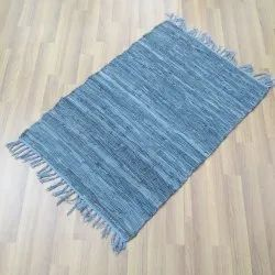 Handmade Rugs Woven Home Leather Rag Rugs for Floor, Size: Custom
