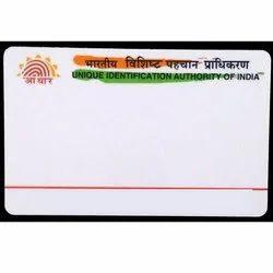 Pre Printed Aadhaar PVC  Card