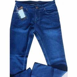 Dark Blue Regular Fit Mens Denim Fabric Jeans, Waist Size: 36 And 28