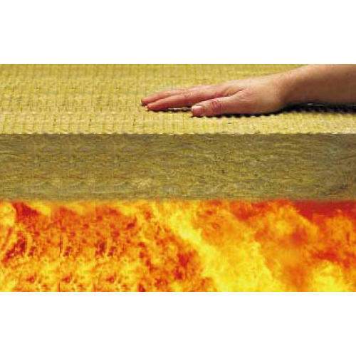 Brown Sunrock Rock Stone Wool Fire Proof Boards Thickness