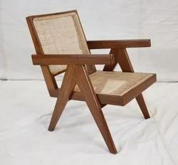 Replica Modern Design Le Corbusier Pierre Jeanneret Solid Teak Living Room Chair