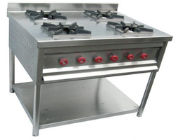 Four Burner Gas Range Oven