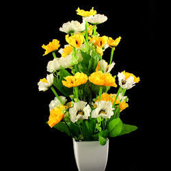 Poppy flower arrangement fake flower kritim phool new phulwari get in touch with us mightylinksfo