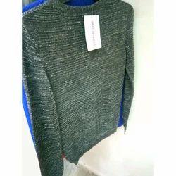 Green Ladies Woolen Full Sleeves Top