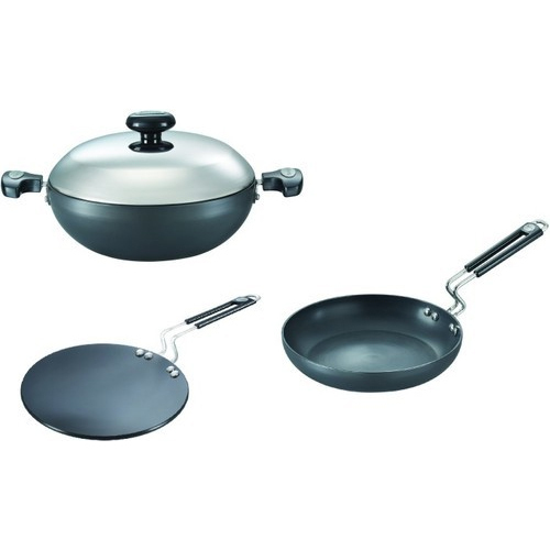 Prestige Hard Anodised Plus Range 3 Pcs Kitchen Set