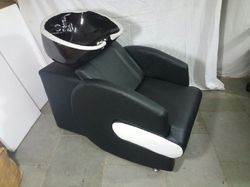 Black Beauty Parlour Shampoo Chair