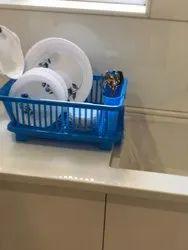 Kitchen Sink Dish Drainer Drying Rack Washing Holder Basket
