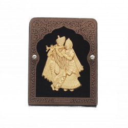 Radha Krishna Leaf Frame