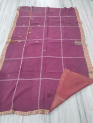Check Block Vintage Kantha Quilt