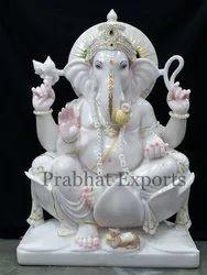 Colorful Marble Ganesha Statue
