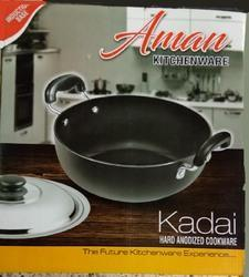 Round Good Jumbo Black Hard Anodized Kadai