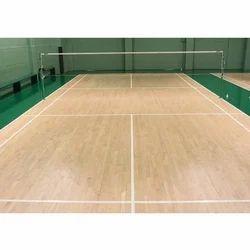Brown Air Cush Badminton Court Flooring, Warranty: 5 Years