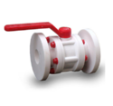 PP & hdpe flanged Ball Valve