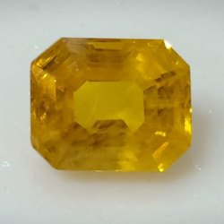 Yellow Sapphire Yellow Step Cut Sapphire, 1.360 Gm