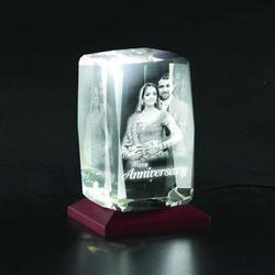 Bevelled Personalized 3D Photo Crystal Gift