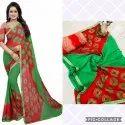 Printed Cotton Bandhani Party Wear Saree, 5.5 M (separate Blouse Piece)