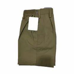 Plain Cotton School Shorts, Size: 11-15