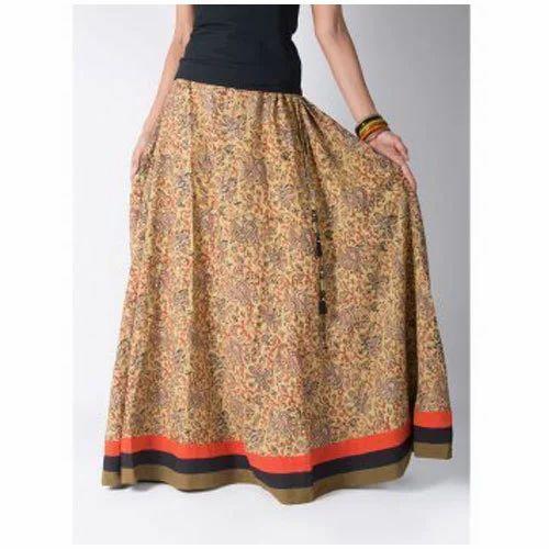 8ae4fe92cf Multicolor Maybell Kalamkari Long Skirt, Opus Fashions Private ...