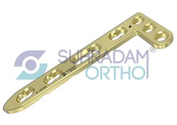 2.4/2.47mm LCP L Dorsal Distal Radius Locking Plate 3 Hole Head