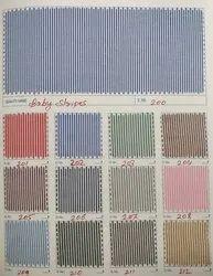 Blue Cotton QMAX BABY STRIPS SHIRTING FABRIC, GSM: 100-150