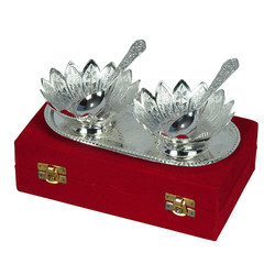 Silver Plated Brass Bowl Set Of 5 Piece