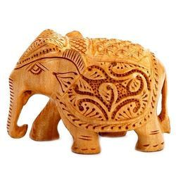 Engraving Wooden Elephant