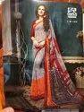Mixed Georgette Vishal Saree, Size: 6.30 Meter, Machine Made